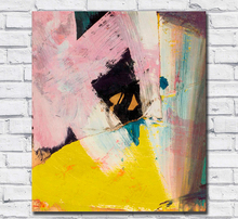 Large Size oil Painting Franz kline Black Angle with Yellow Wall Art Canvas Pictures for Living Room and Bedroom No Frames