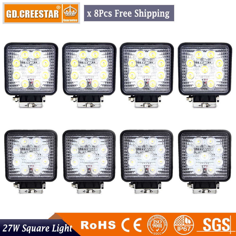 27Wattos 4 hüvelykes LED-es munkavilágítású, 12 V-os, 24 V-os - Autó világítás