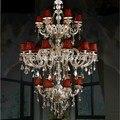 Горячая продажа шампанского Прямая продажа с фабрики Современная классическая хрустальная люстра освещение JP8472/6 + 12 + 6L D1100MM H1900MM AC