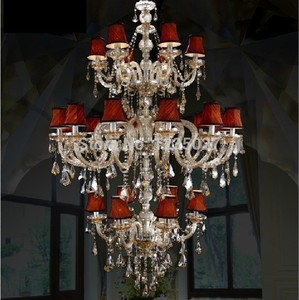 Hot Selling Champagne Factory direct Contemporary Traditional Crystal Chandelier Lighting JP8472/6+12+6L D1100MM H1900MM AC
