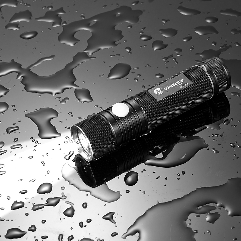 LUMINTOP Powerful Led 18650 Flashlight  SD20 Cree XM-L2 U2 LED Max 900 Lumens  Super Bright Flashlight  EDC