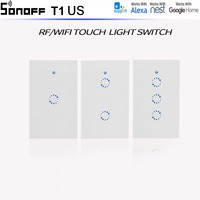 New Work With Alexa Sonoff US Standard 1 2 3 Gang Wall Light App Switch Touch