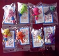 Wholesale 50pcs/lot Handcraft Voodoo Doll Toy With Strap As Mobile Pendant,Keychain, Free Shpping