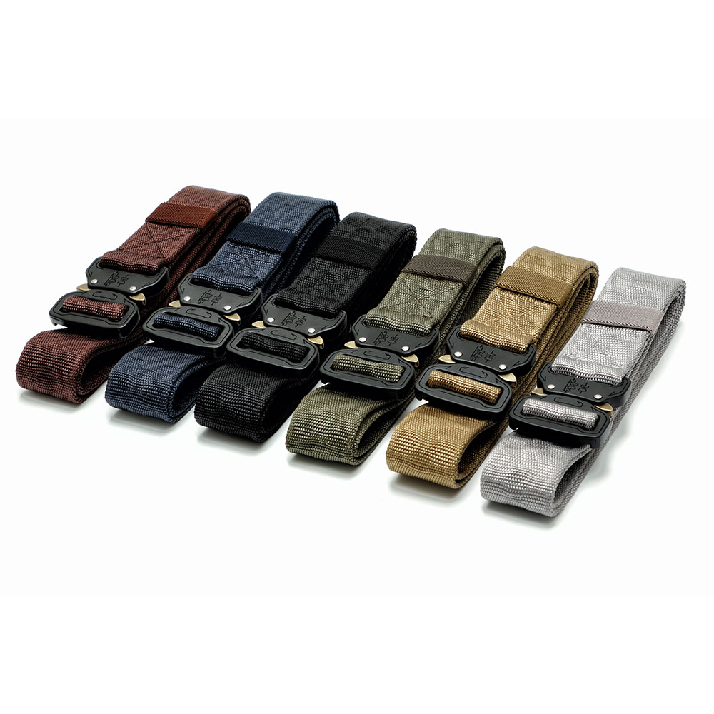 Tactical Belt Practicality Emergency Survival Training Belt Safety Zinc Alloy Buckle Waist Straps Durable Military Equipment stylish zinc alloy cowhide waist decoration keychain brown coffee