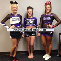 High Quality Cheerleader Uniform Lycra Performance Sport Outfit Flexiable Costume 5sets Pom Pom Hairbow Custom