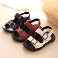2017 Genuine Leather Baby Boy Sandals Soft  Summer Beach Kids Shoes chaussure enfant Children Shoes Boys Sandals White Black