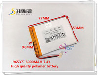 7 4V 6000mAH 965377 Polymer Lithium Ion Li Ion Battery For Tablet Pc For PIPO CUBE