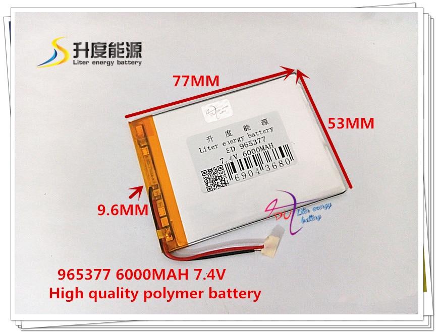 965377 7.4V 6000mAH 105575 Polymer lithium ion / Li-ion battery for Universal Li-ion battery for tablet pc 7 inch 8 inch 9inch