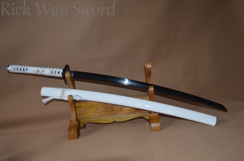 HANDMADE JAPANESE SAMURAI  SWORD KATANA 1060 HIGH CARBON STEEL BLUE VERY SHARP