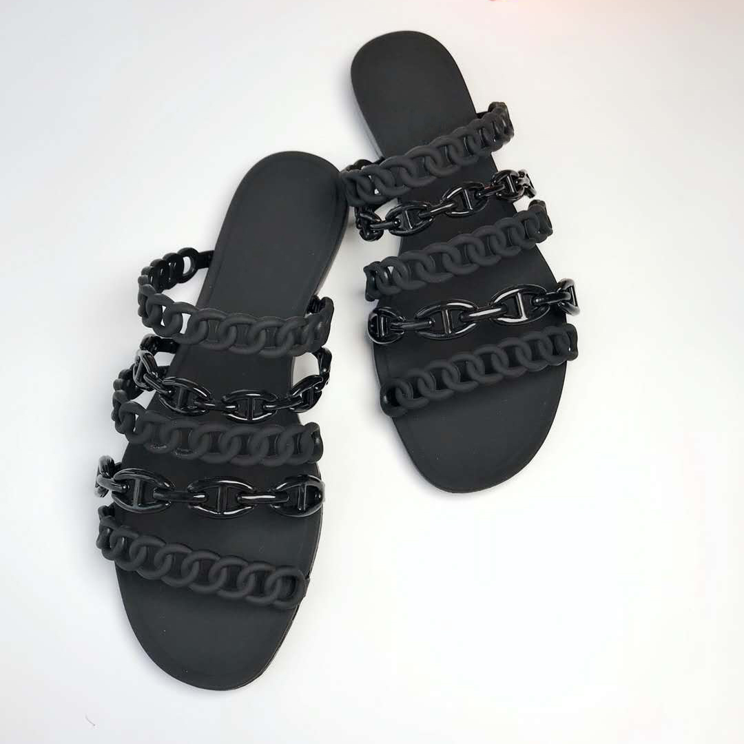 Klapki damskie pcv galaretki pantofel bawełna tkaniny plaża skid plaża klapki japonki lato Hot sprzedam modne sandały płaskie duży rozmiar 41 w Kapcie od Buty na  Grupa 1
