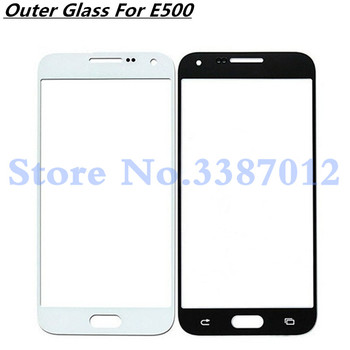 Touch Screen Panel Replacement For Samsung Galaxy E5 E500 E500F E500M LCD Front Outer Glass Cover Lens With Logo image