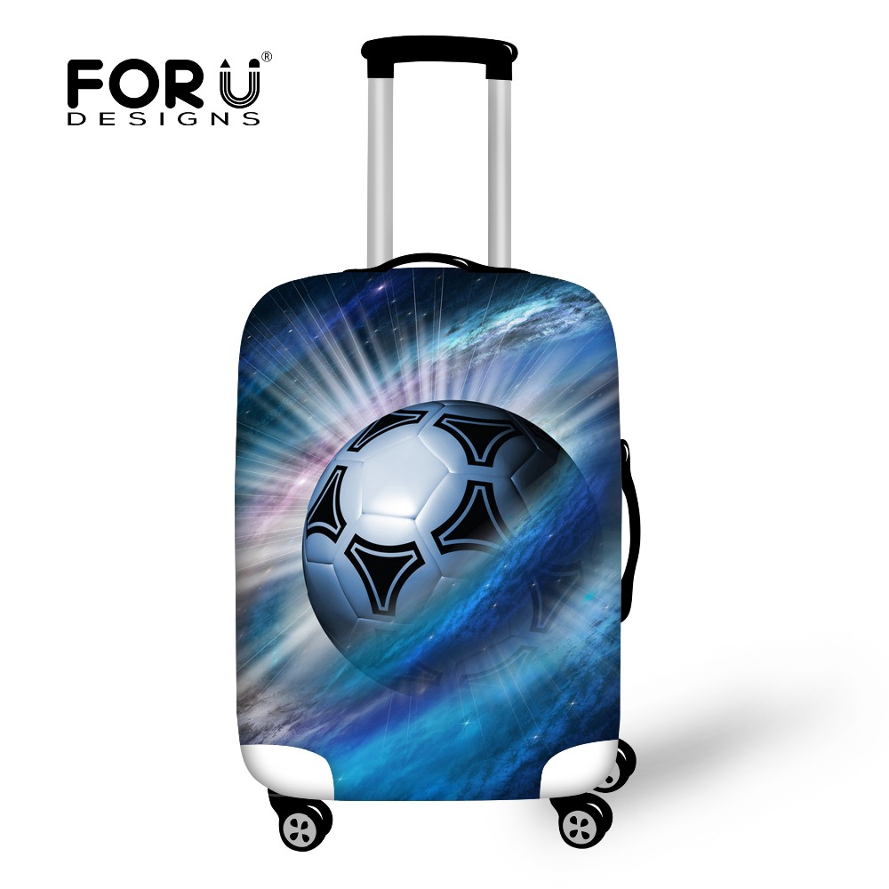 FORUDESIGNS Travel Suitcase Waterproof Luggage Protective Covers,3D Ball Print Protector Rain Cover for 18 22 26 28 30inch Cases