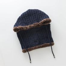 Новинка 1 шт. Женская и мужская вязаная шапка для шеи ухо теплая эластичность ветрозащитный для зимы на открытом воздухе DOD886
