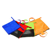 4 Pcs Set Reusable Trolley Tote Insulated Cooler Grocery Shopping Cart Bags Foldable Storage Bags J2Y