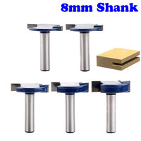 5pcs 8mm Shank T Type Bit With Bearing Router Bit Set Woodworking Router Bits Router Bits