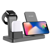 3 in 1 Fast Multiple Wireless Charger for AirPods Apple Watch 4/3/2/1 iPhone X XS Max XR 8 Plus Samsung S9 S8 Phone Stand Holder