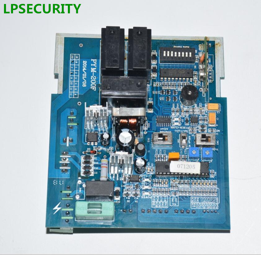LPSECURITY circuit board pcb motherboard for 1800kg sliding gate motor(only for our motor, not working with other brand) free shipping motor controller treadmill spare parts shua oma brand etc treadmill circuit board motherboard driver control board
