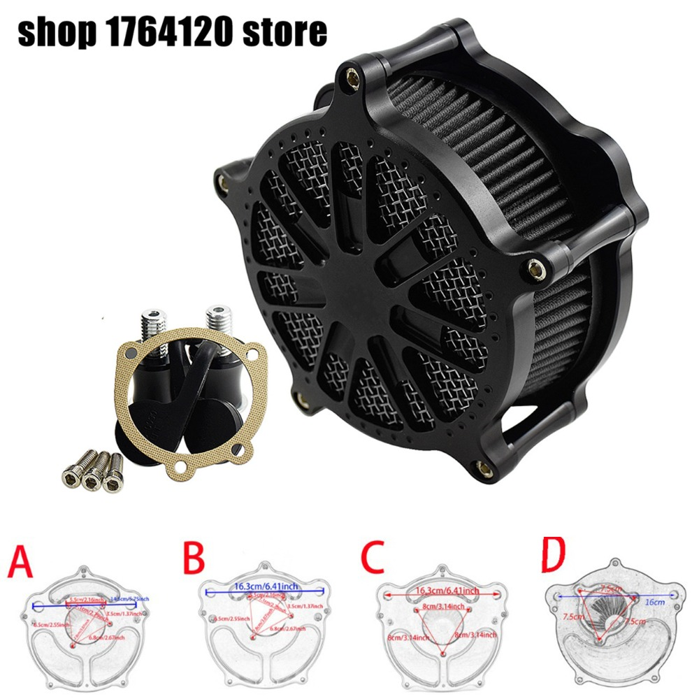 Matte Grill Air Cleaner Intake Air Filter For Harley Touring Trike 08 16 XL Sportster 04