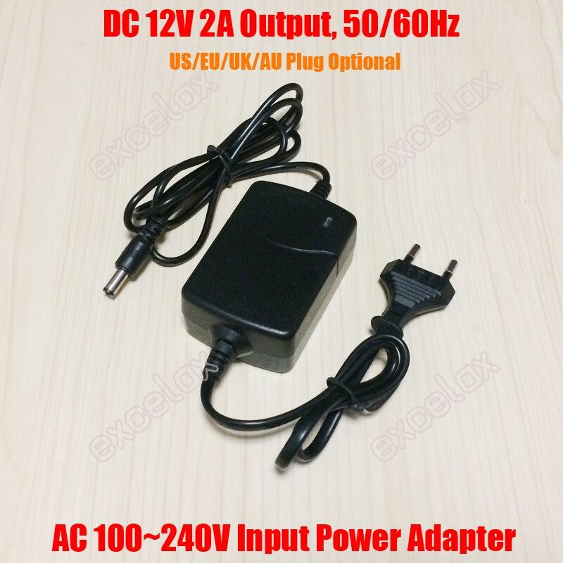 240V to DC12V 2A Power Supply Transformer For CCTV Access control AC110V 100V
