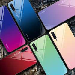 KEYSION Tempered Glass Case for Samsung Galaxy A50 A70 A30s A40 A20e A10 A80 M20 Phone Cover for Samsung Note 10 Plus S10 S9 S8