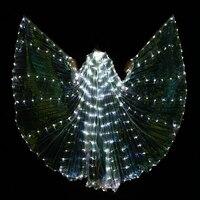 2017 Stafe Performance Prop Women Dancewear Girls DJ LED Wings Light Up Wings Belly Dance Wing