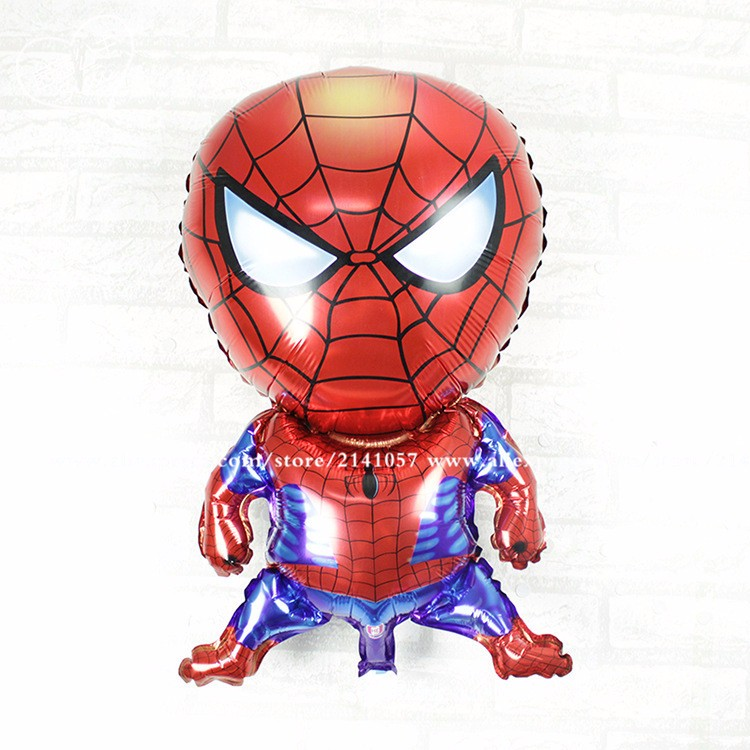 wholesale 50pcs lot hot Boys clsaaic toy Spiderman aluminum foil balloons birthday party scene decorated and