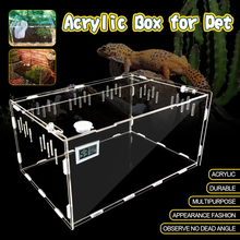 Pet декоративная коробочка 30*20*15 см термометр гигрометр Террариум для рептилий насекомых холодной крови животных рептилий практичный