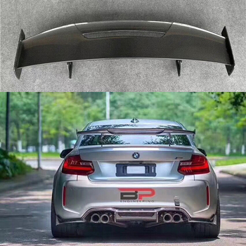 цена на Car Styling Exterior Carbon Fiber Modified Rear Spoiler Tail Trunk Lip Wing Decoration Fit For BMW M1 M3 M4 M5 M6 MAD GT Spoiler