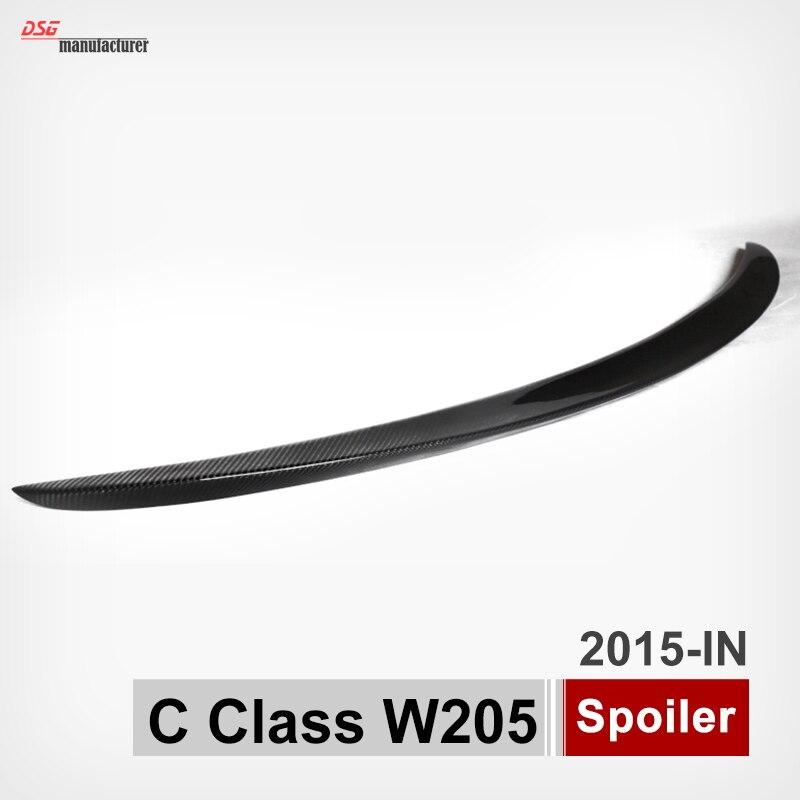 Mercedes c klasse w205 cf carbon heckspoiler stamm flügel für benz 4