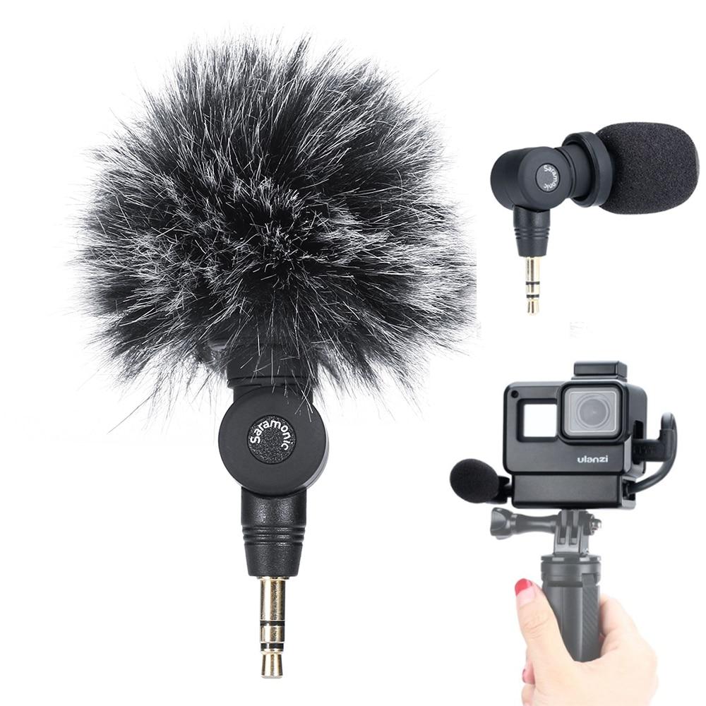 Go Pro Vlog Setup Saramonic SR-XM1 Wireless Video Microphone W Ulanzi V2 Cold Shoe Housing Case For GoPro Hero 7 6 5 Osmo Pocket