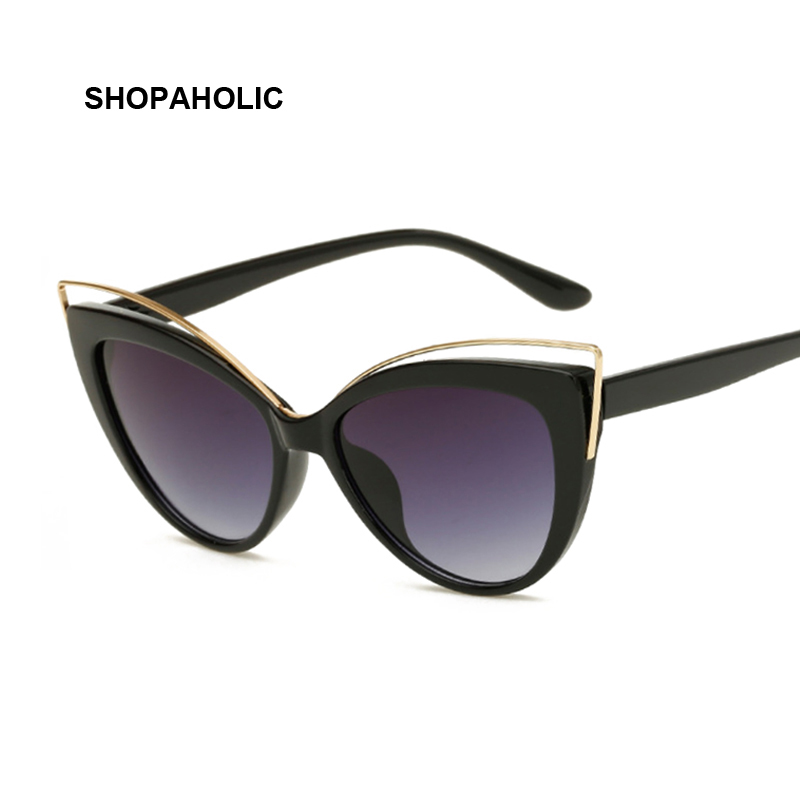 Cat Eye Sunglasses Women Vintage Fashion Butterfly Mirror Sun Glasses Female Retro Summer Style Metal Eyeglasses Luxury