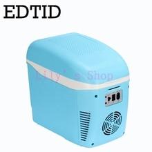 Edtid мини-холодильник Портативный автомобиль бытовой электрический холодильник Авто Путешествия пить боксового морозильник теплые 7.5L 12 В 220- 240 В ЕС