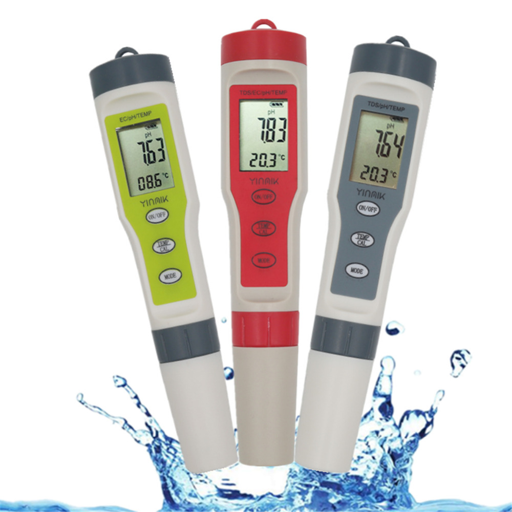 Professional TDS PH Meter PH/TDS/EC/Temperature Meter Digital Water Quality Monitor Tester for Pools, Drinking Water, Aquariums цена и фото
