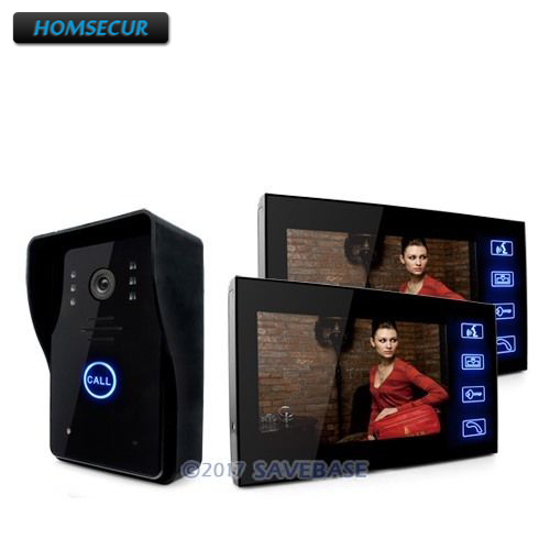 HOMSECUR Wired Door Phone Doorbell Touch Key 7 Lcd Video Intercom Ir Camera Of Home Intercom 1V2 UK/EU Domestic Delivery