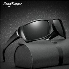 Long Keeper 2018 Fashion Polarized Solglasögon Square Mirror Eyewears For Men Drivglasögon Skyddsglasögon Gafas @ KP1018