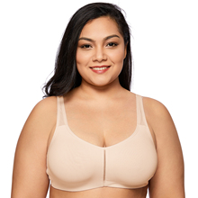 Women's Comfort Plus Size Support Leisure Wire Free Soft Cup Bra