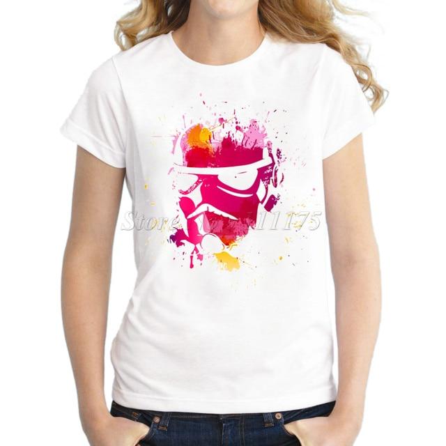 2015 ladies fashion painted stormtrooper design t shirt for Ladies custom t shirts