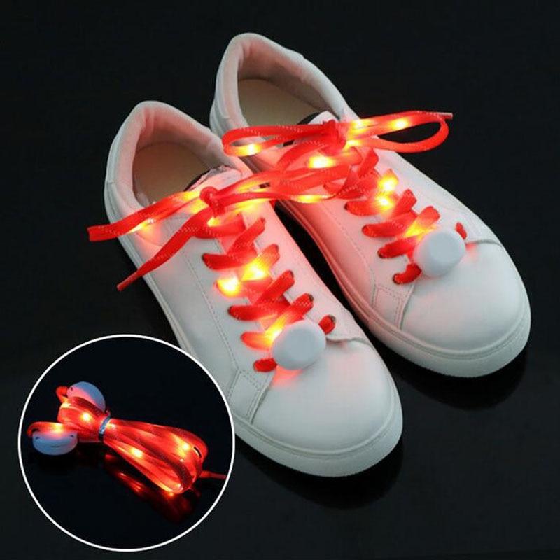 300pairs Fashion Light up LED Shoelaces Flash Party Skating Glowing Shoe Laces for Boys Girls Self Luminous Shoe Strings ZA3744