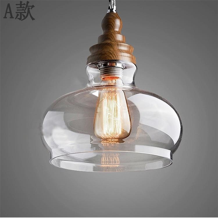 American Country Lighting Wood Edison Pendant Lights Gl