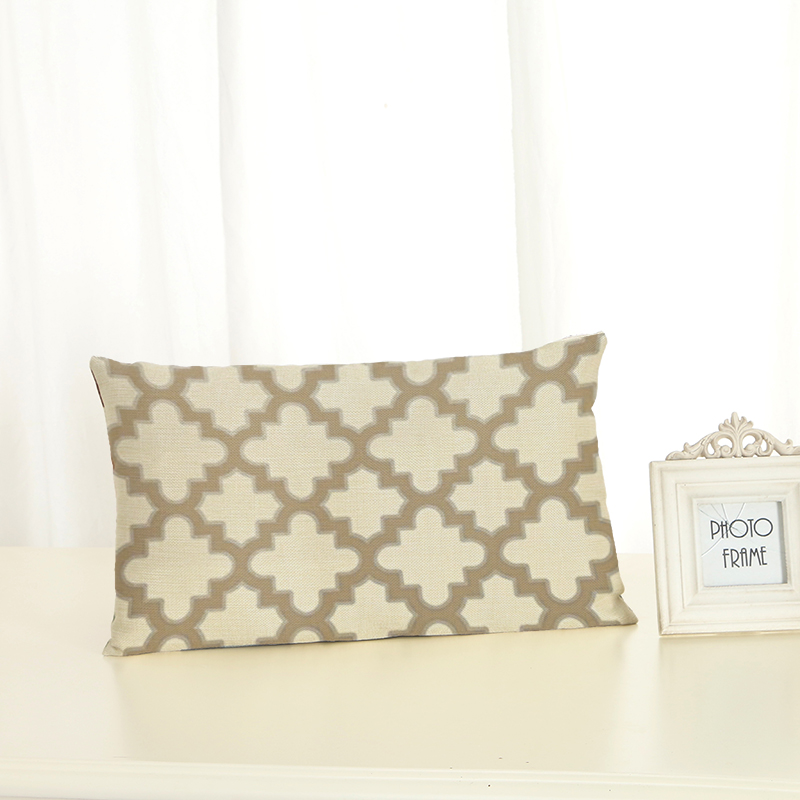 Personalized Geometric Element Cushion Covers Fashion Creativity Home decoration <font><b>30x50</b></font> Decorative Beige Linen <font><b>Pillow</b></font> <font><b>Case</b></font> image
