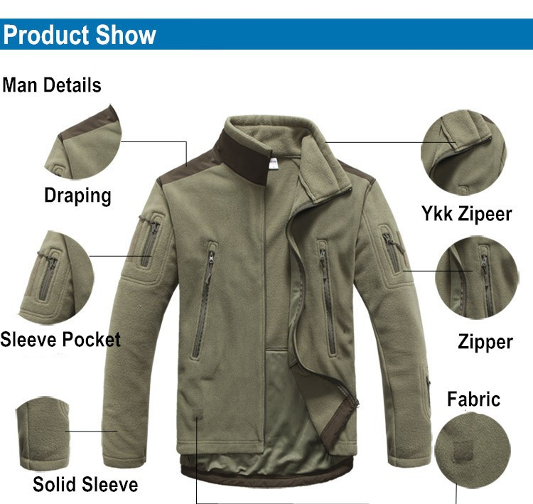 Outdoor Tactical TAD Fleece Polar Jacket Men Military Sports Suit Camping Hunting Jackets Thermal Coats Clothes Shark Skin Patch In Hiking From