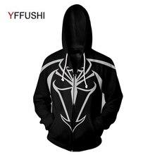YFFUSHI New Arrival Zipper Jacket Men Fashion Naruto Cartton 3d Print Coat Spring Autumn Hip Hop Hoodies Plus Size