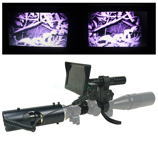 Best Hunting optics sight Laser Infrared night vision Binoculars with Infrared Flashlight and monitor
