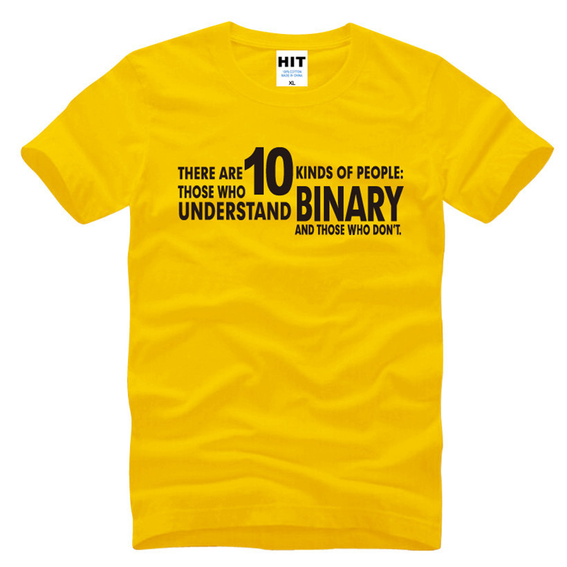 There Are 10 Kinds of People BINARY Joke Funny Gift Mens Men T Shirt Tshirt 2018 New O Neck Casual T-shirt Tee Camisetas Hombre ...