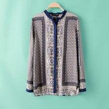 2016 New Fashion Spring Summer Massimo Women Shirts Long Sleeve Blouse Casual Print Shirt Ladies Puls Size D746