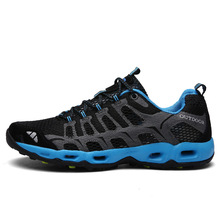 2019 Unisex Outdoor Sneakers Breathable Hiking Shoes Air Mesh Men Women Sandals Trekking Trail Water