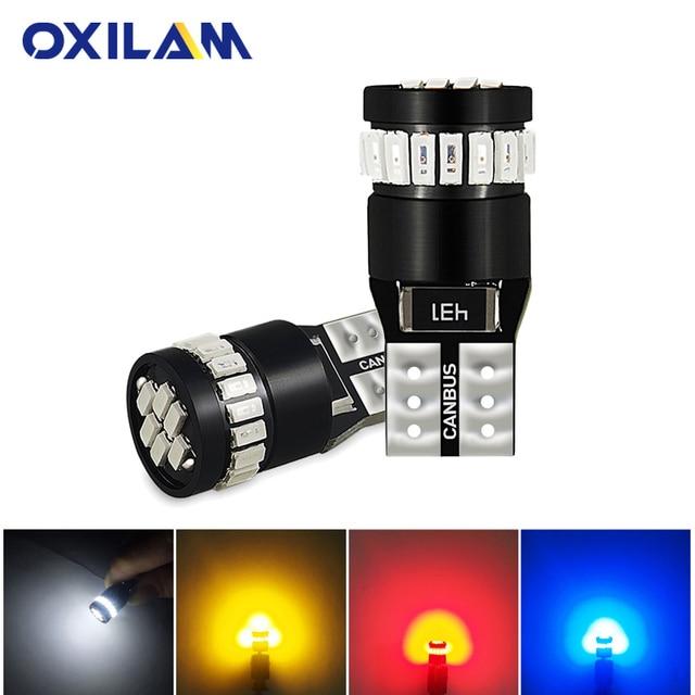2x W5W T10 LED Canbus bombilla 3014 SMD 194, 168 de las luces de estacionamiento Auto Interior lectura lámpara de señal blanco rojo amarillo azul