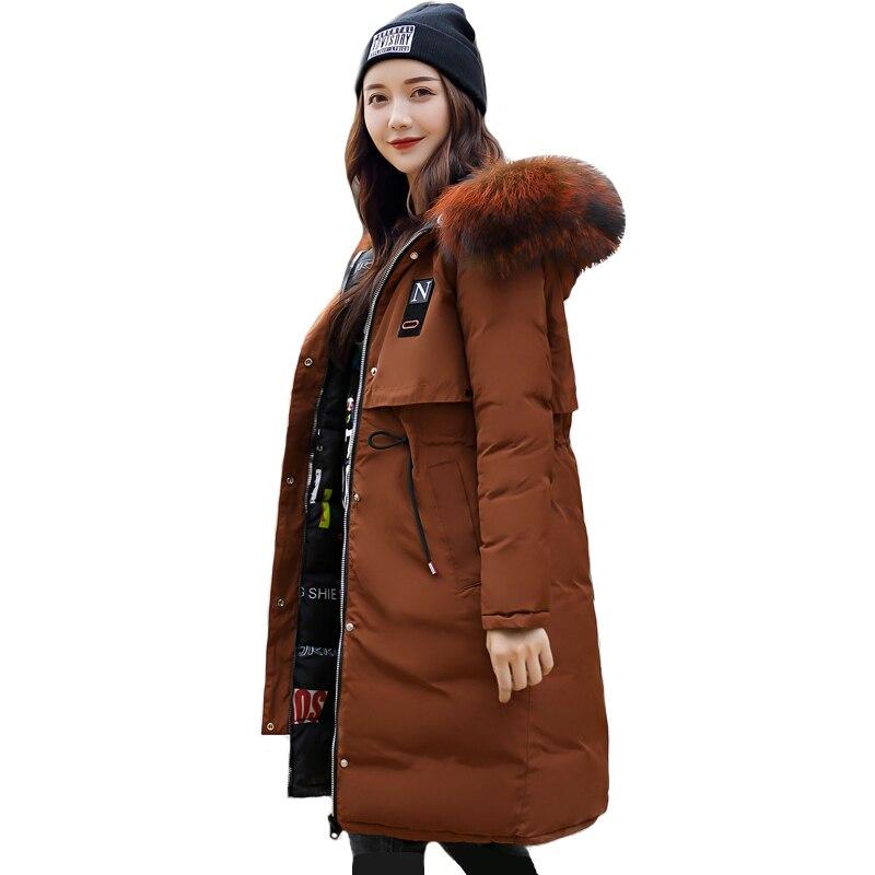 2018 Новая модная зимняя куртка Для женщин с капюшоном с мехом и две стороны носить Женская зимняя обувь Пальто Длинные Теплая парка Chaqueta Mujer