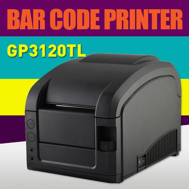 Línea directa Térmica 3 ~ 5 Pulgadas/Sec puerto USB Barcode Label Printer, GP-3120TL barcode impresora térmica
