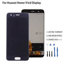 Original For Huawei Honor 9 LCD Display Touch Screen Digitizer Assembly For Honor 9 LCD STF-L09 STF-AL10 STF-AL00 Screen LCD free shipping 9 inches lcd screen kr090pa2t 800 x480 50 pin short line the 16 9 display screen